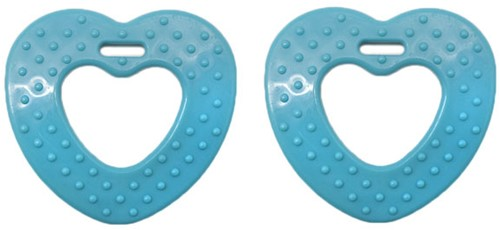 Durable Teether Heart With Studs 298 Petrol