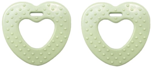 Durable Teether Heart With Studs 369 Pastel Green