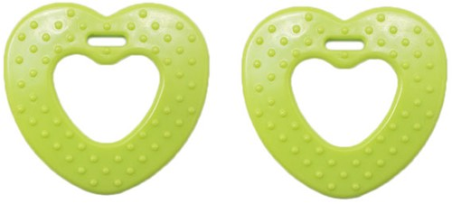 Durable Teether Heart With Studs 567 Green