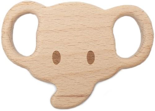Durable Wooden Teether Animal Elephant