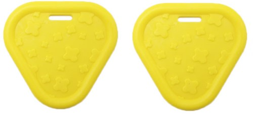 Durable Teether Triangel 645 Yellow