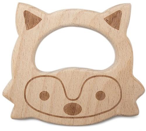 Durable Wooden Teether Animal Fox