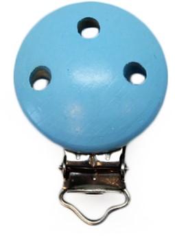 Wooden Pacifier Clip Lightblue