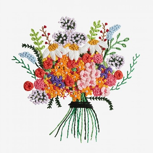 Embroidery Pattern Bouquet