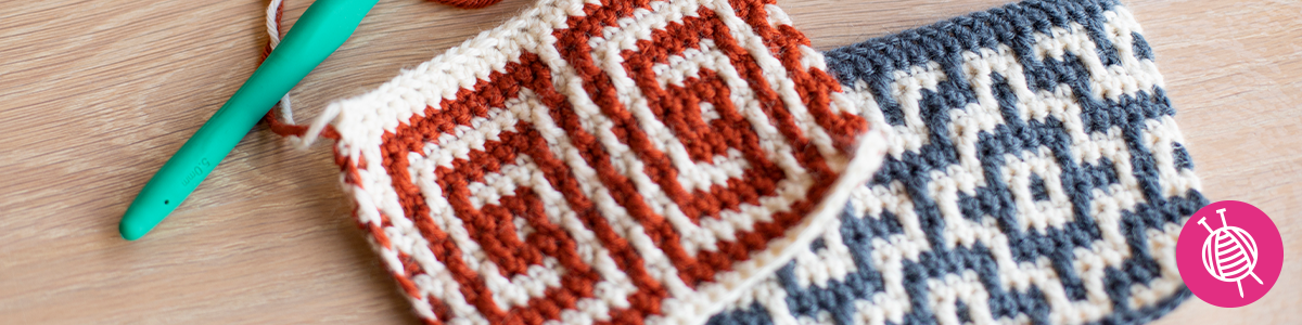 Learn how to mosaic crochet with HaakSTER Nienke!