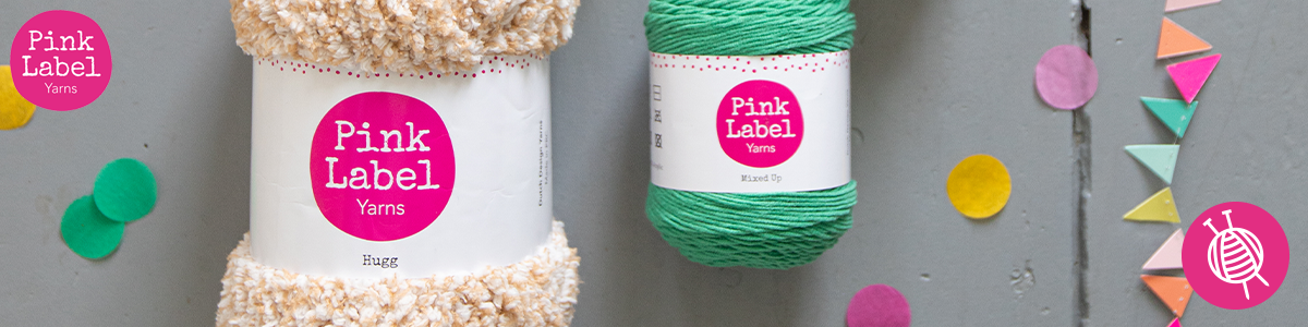 Crochet or knit with Yarnplaza's own yarn brand, Pink Label!