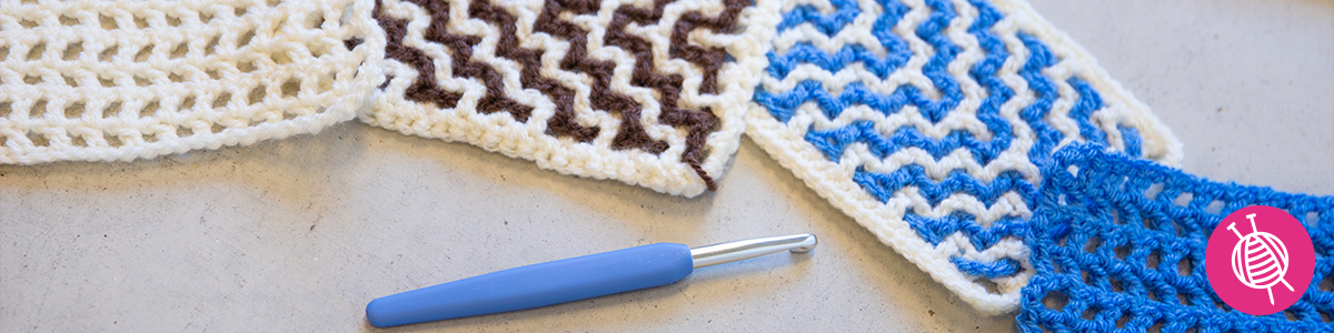 Interlocking crochet with Yarnplaza