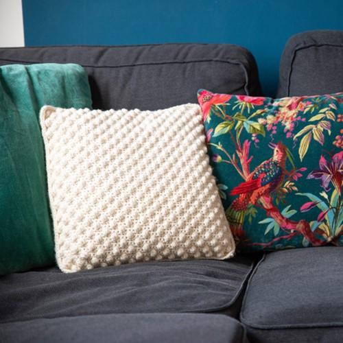 Home-Deco Bobble Cushion Crochet Kit 5 Bohemian