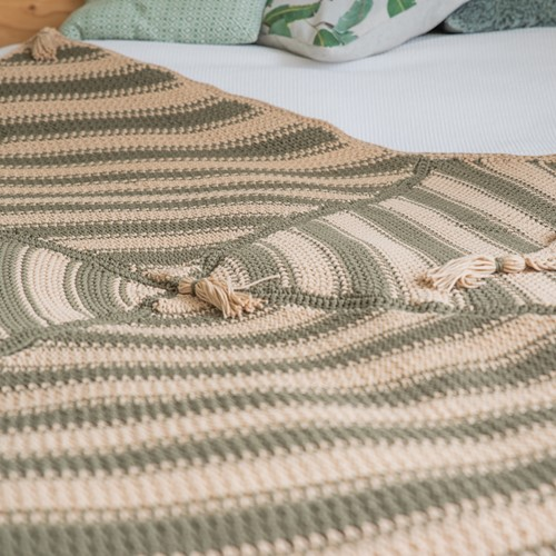 Crochet Pattern Yarn and Colors Boho Blanket