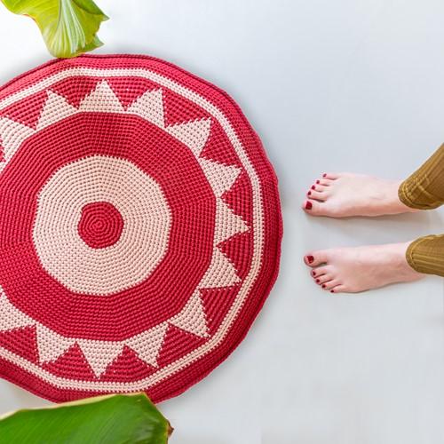 Crochet Pattern Yarn and Colors Boho Floor Cushion