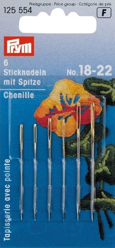 Prym tapestry needles No.18-22 (Sharp tip)