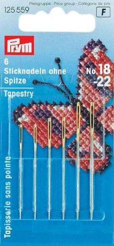Prym tapestry needles No.18-22 (Round Point)
