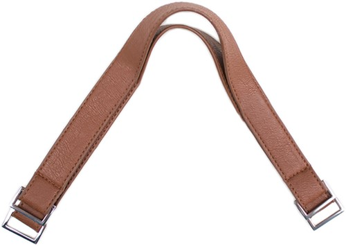 Handbag Handles Silver Clasp 40 Light Brown