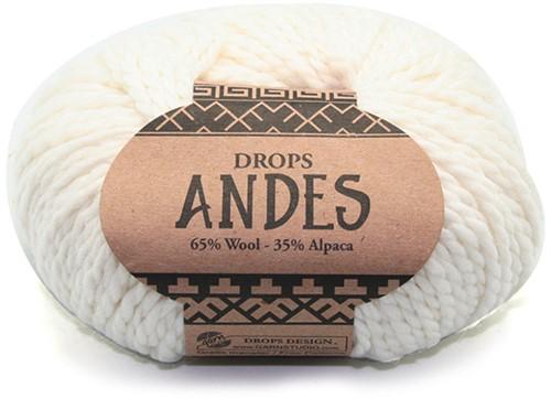 Drops Andes Uni Colour 1101 White