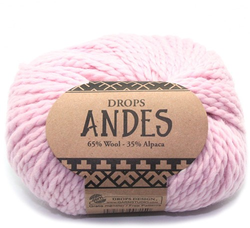 Drops Andes Uni Colour 3145 Powder Pink