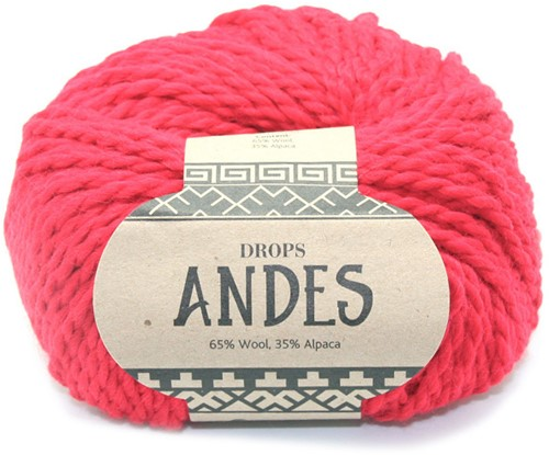Drops Andes Uni Colour 3620 Christmas Red