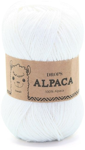 Drops Alpaca Uni Colour 101 White