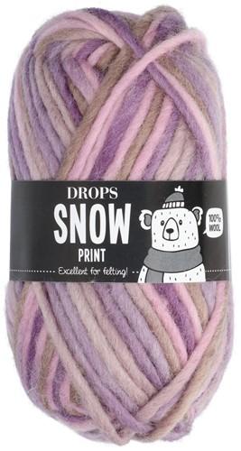 Drops Snow (Eskimo) Print 42 Fantasy purple