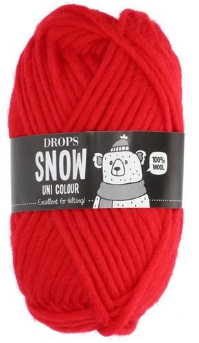 Drops Snow (Eskimo) Uni Colour 56 Christmas red