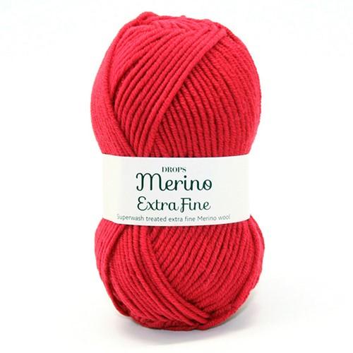 Drops Merino Extra Fine Uni Colour 11 Red