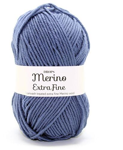 Drops Merino Extra Fine Uni Colour 13 Jeansblue