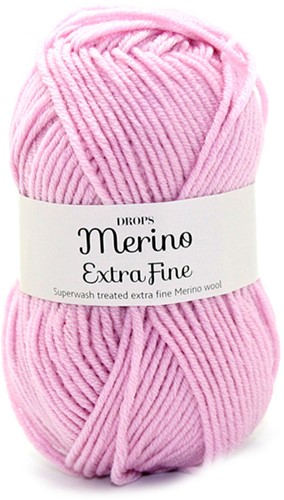 Drops Merino Extra Fine Uni Colour 16 Light Pink