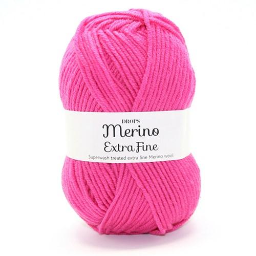 Drops Merino Extra Fine Uni Colour 17 Cerise