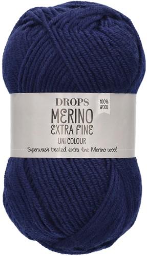 Drops Merino Extra Fine Uni Colour 27 Marine Blue