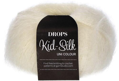 Drops Kid-Silk Uni Colour 01 Off-white