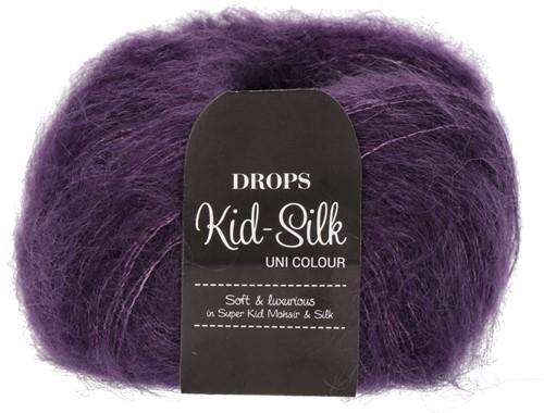 Drops Kid-Silk Uni Colour 16 Dark-purple