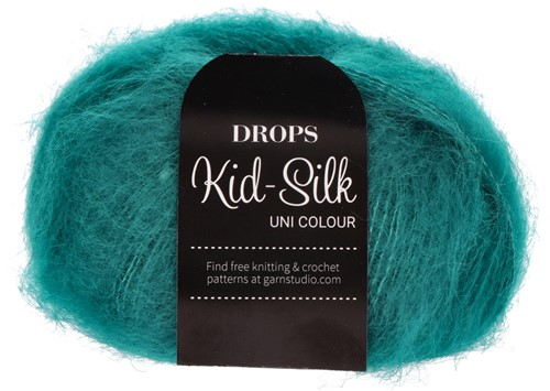 Drops Kid-Silk Uni Colour 24 Petrol