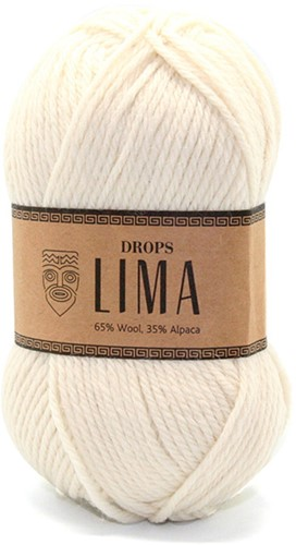 Drops Lima Uni Colour 100 Off White