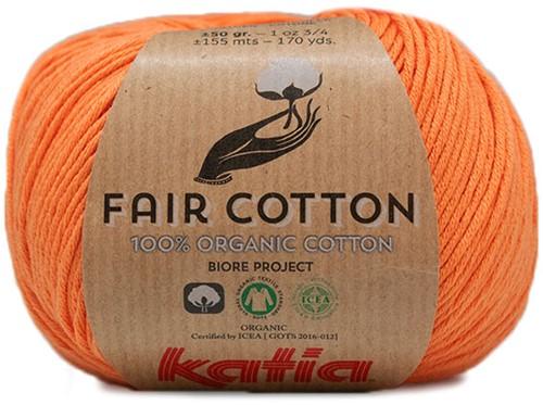 Katia Fair Cotton 43 Pastel Orange