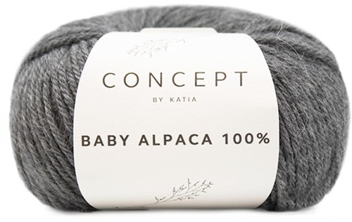 Katia Baby Alpaca 100% 504 Medium grey