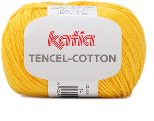 Katia Tencel-Cotton 014 Lemon yellow