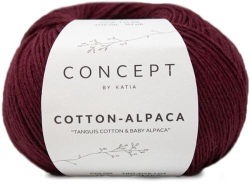 Katia Cotton Alpaca 102 Wine Red