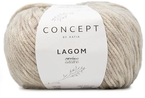 Katia Lagom 100 Very light grey