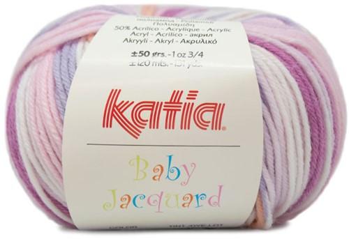 Katia Baby Jacquard 80 Pink / Lilac