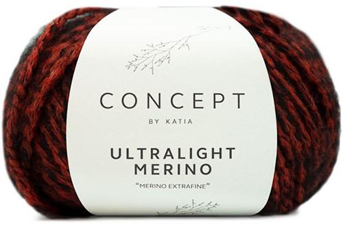 Katia Ultralight Merino 058 Orange-Black