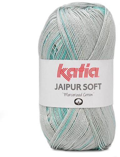 Katia Jaipur Soft 100 Aqua Blue / Lila / Brown