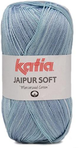 Katia Jaipur Soft 101 Aqua Blue / Ecru
