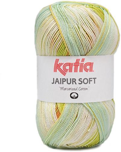Katia Jaipur Soft 108 Orange / Yellow-Green / Aqua Blue