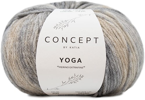 Katia Yoga 200 Grey / Beige