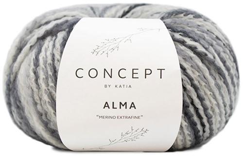 Katia Alma 300 Grey / Ecru / Black