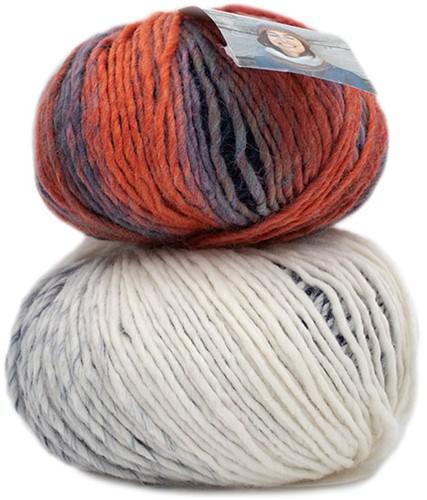 Katia Knit Ensemble 400 Off-white/Dark blue/Orange/Blue
