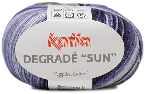 Katia Degradé Sun 252 Lila / Ocher / Green