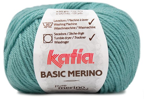 Katia Basic Merino 73 Water blue