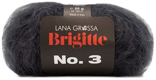Lana Grossa Brigitte No.3 11 Anthracite