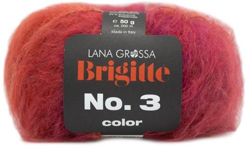 Lana Grossa Brigitte No.3 Color 101 Fuchsia / orange / pink