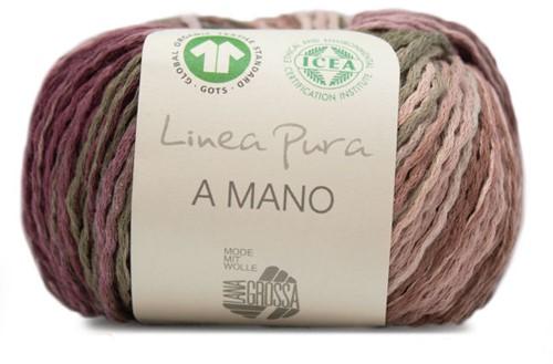 Lana Grossa A Mano 012 Nature / Beige / Dark Brown / Khaki / Grey / Green / Blackberry
